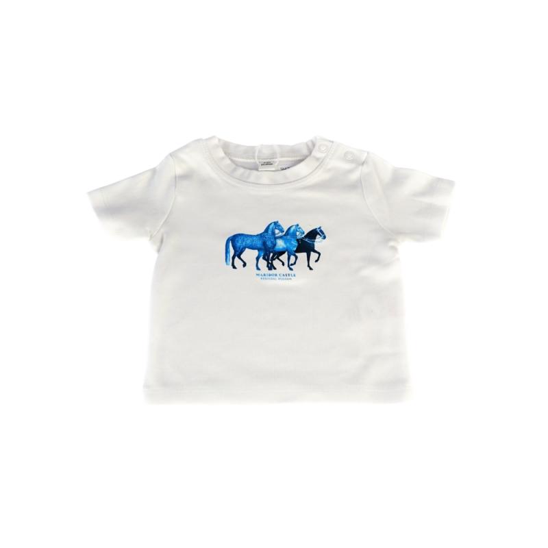 Majica BABY modri konji GALLOPIN THROUGH TIME